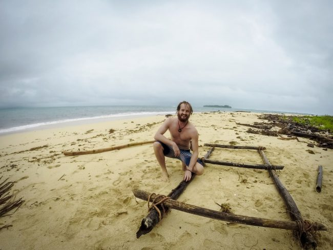 Robinson Crusoe on the beach
