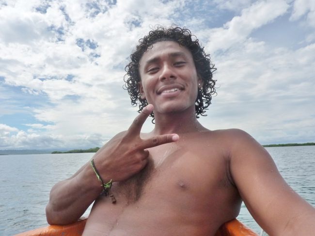 Diving instructor in Panama