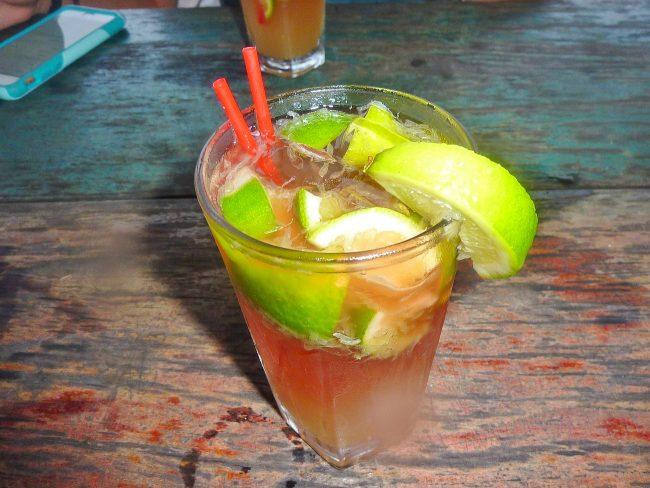 A cocktail in Bocas del Toro